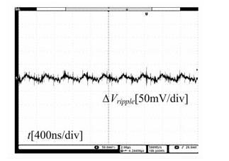 满载时输出电压和输出纹波电压波形示意图