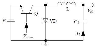 传统的非隔离负电压开关电源电路结构2