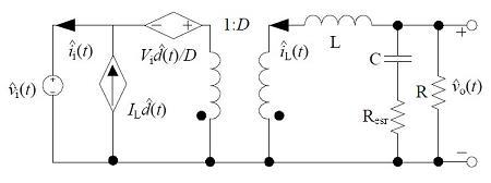 非隔离负电压Buck开关电源CCM小信号模型