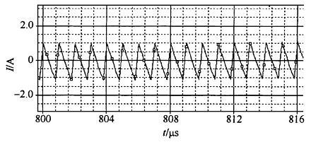 交错并联变换器结构的输出电流纹波波形