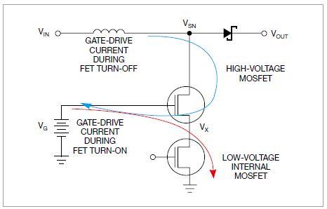 图3,级联FET结构获得了快速的转换和低损耗。这种结构亦能实现更高电压的运行。