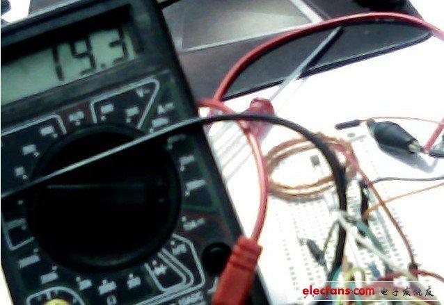 接收的电流(为了保护三极管,所以说电流在20毫安左右)