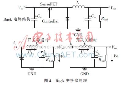 buck拓扑电路选用传统的buck降压斩波电路