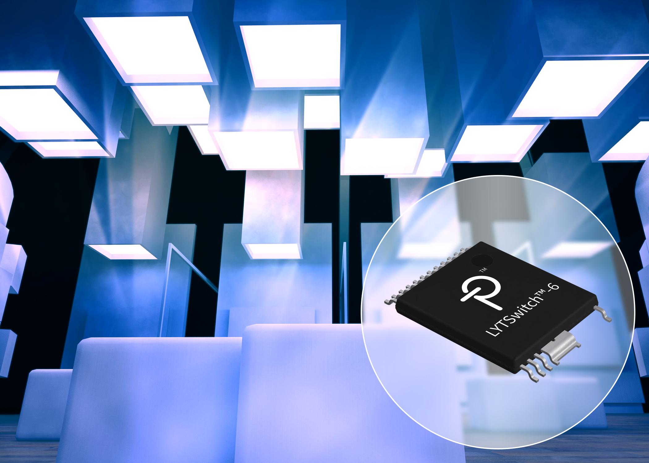 PI推出同时支持LED恒压和恒流控制的LYTSwitch-6驱动器