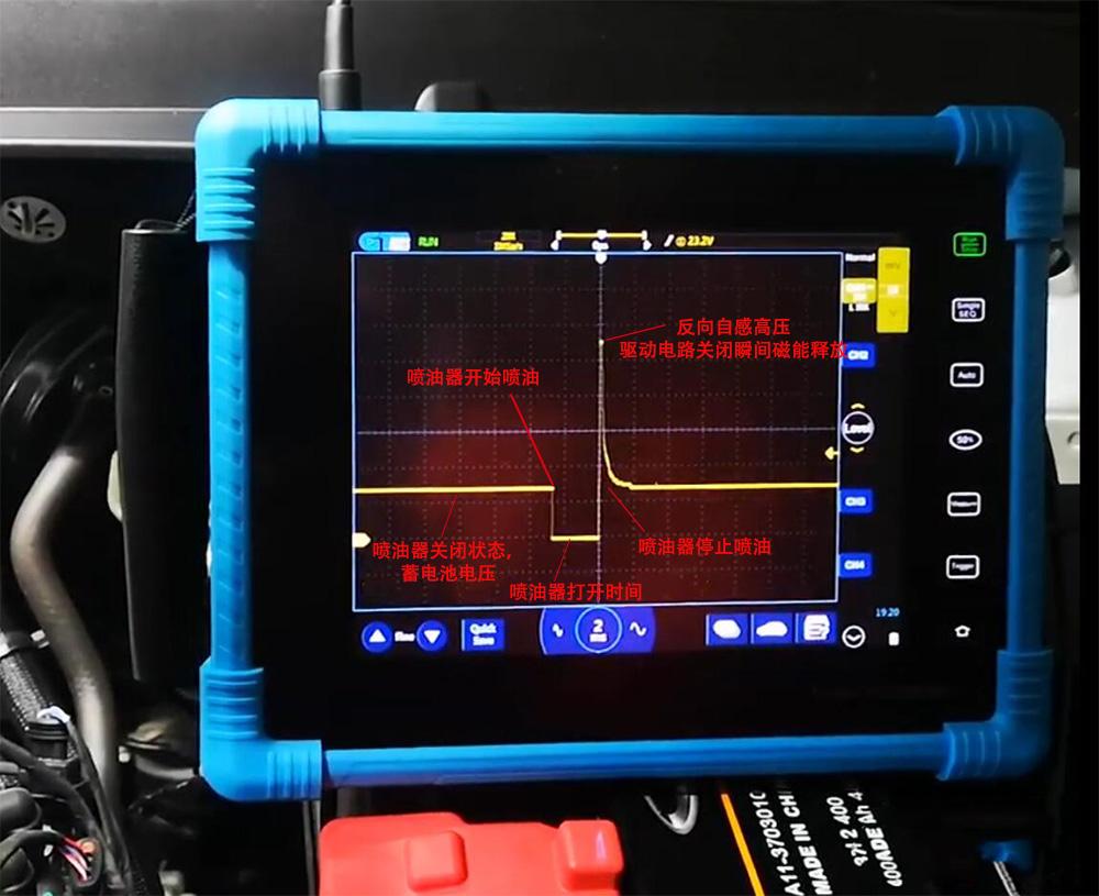 2汽车示波器检测汽车喷油嘴(汽油机)信号波形.jpg