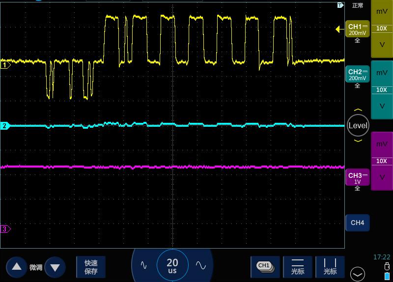 2示波器测高频长串方波脉冲变成了锯齿波.jpg
