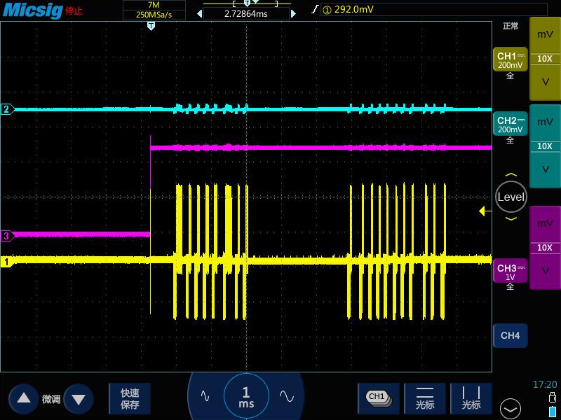 4示波器测高频长串方波脉冲变成了锯齿波.jpg