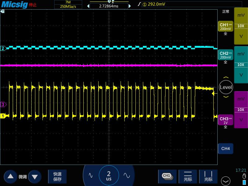 5示波器测高频长串方波脉冲变成了锯齿波.jpg