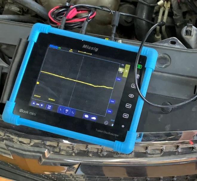 2汽修示波器测量汽车冷却液温度传感器信号及分析.jpg