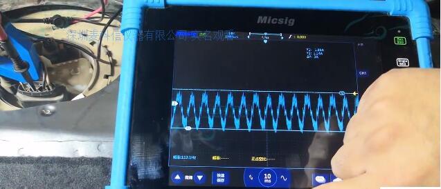 2示波器测量汽车执行器低压燃油泵信号及分析.jpg