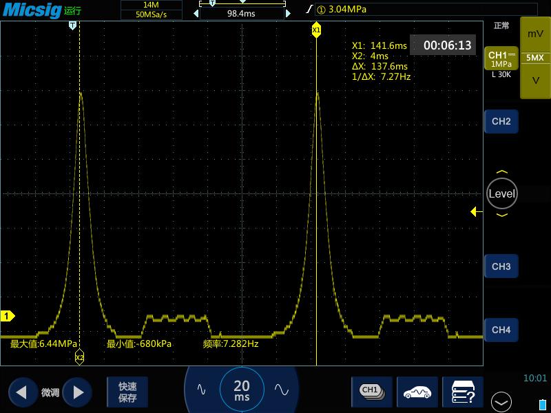 1示波器测量汽车发动机气缸内压力测试信号.png